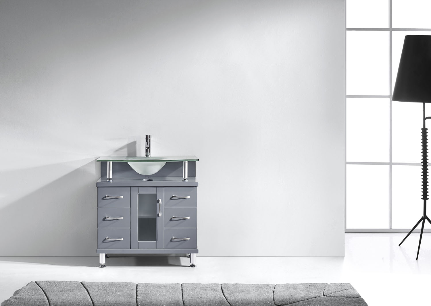 "Vincente 32"" Vanity in Gray by Virtu USA - ms-32-fg-gr-2"