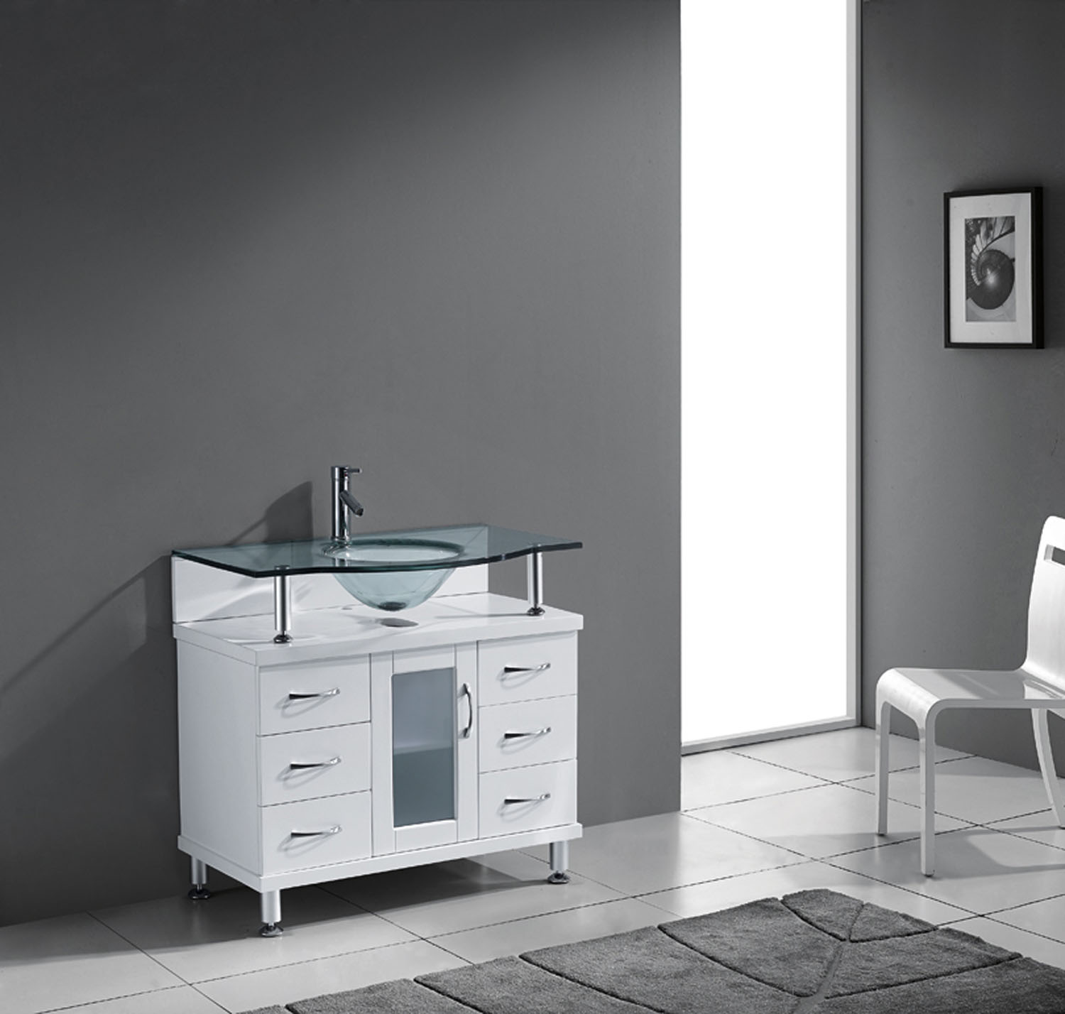 "Vincente 36"" Vanity in White by Virtu USA - ms-36-g-wh-2"
