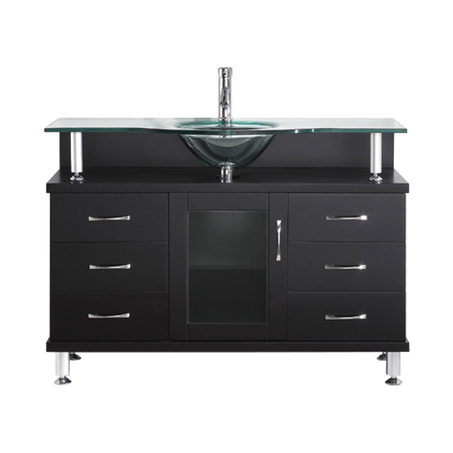 Virtu USA - MS-48-G-ES - Virtu USA Vincente 48 in. Bathroom Vanity Set in Espresso