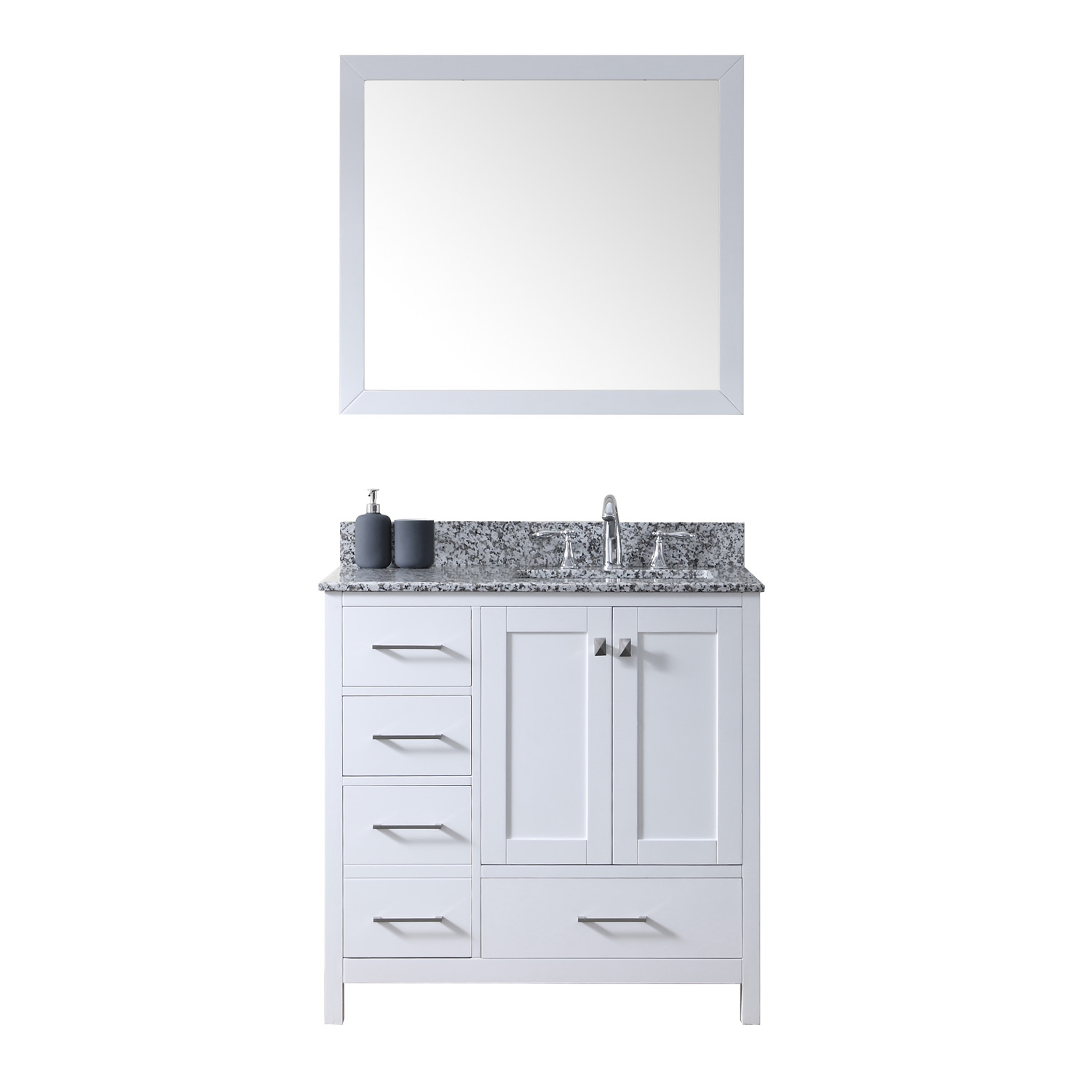 "Caroline Madison 36"" Vanity in White by Virtu USA - gs-28036l-awsq-wh"
