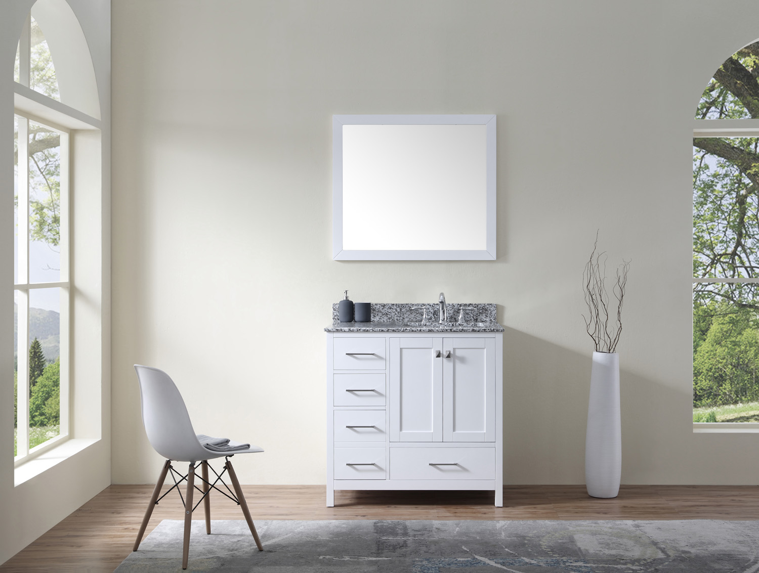 "Caroline Madison 36"" Vanity by Virtu USA - gs-28036l-awsq_wh"