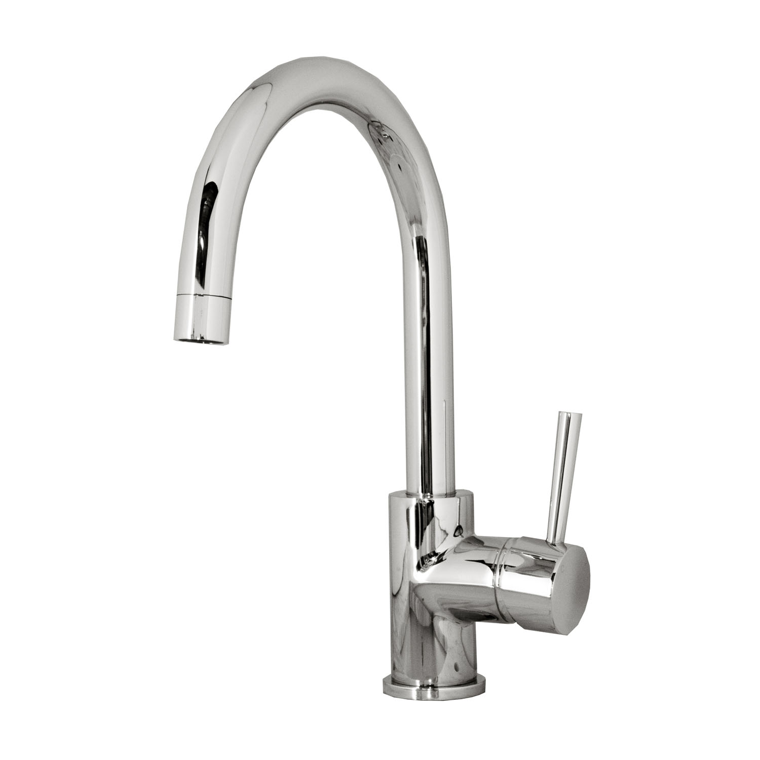 Keplen 801 Single Hole Kitchen Faucet - PSK-801-PC - Kitchen Faucets -  Virtu USA