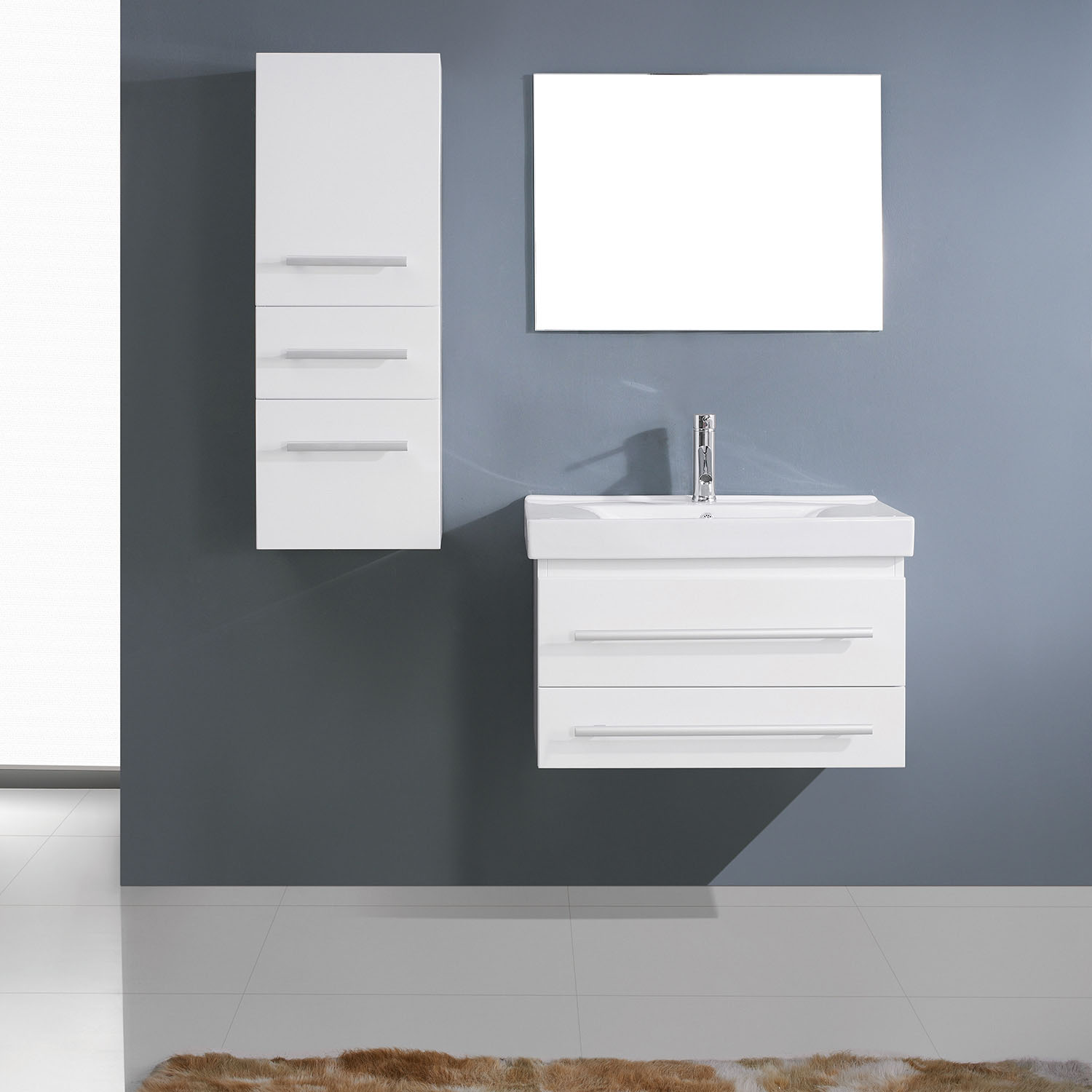 Winterfell Single Bathroom Vanity White