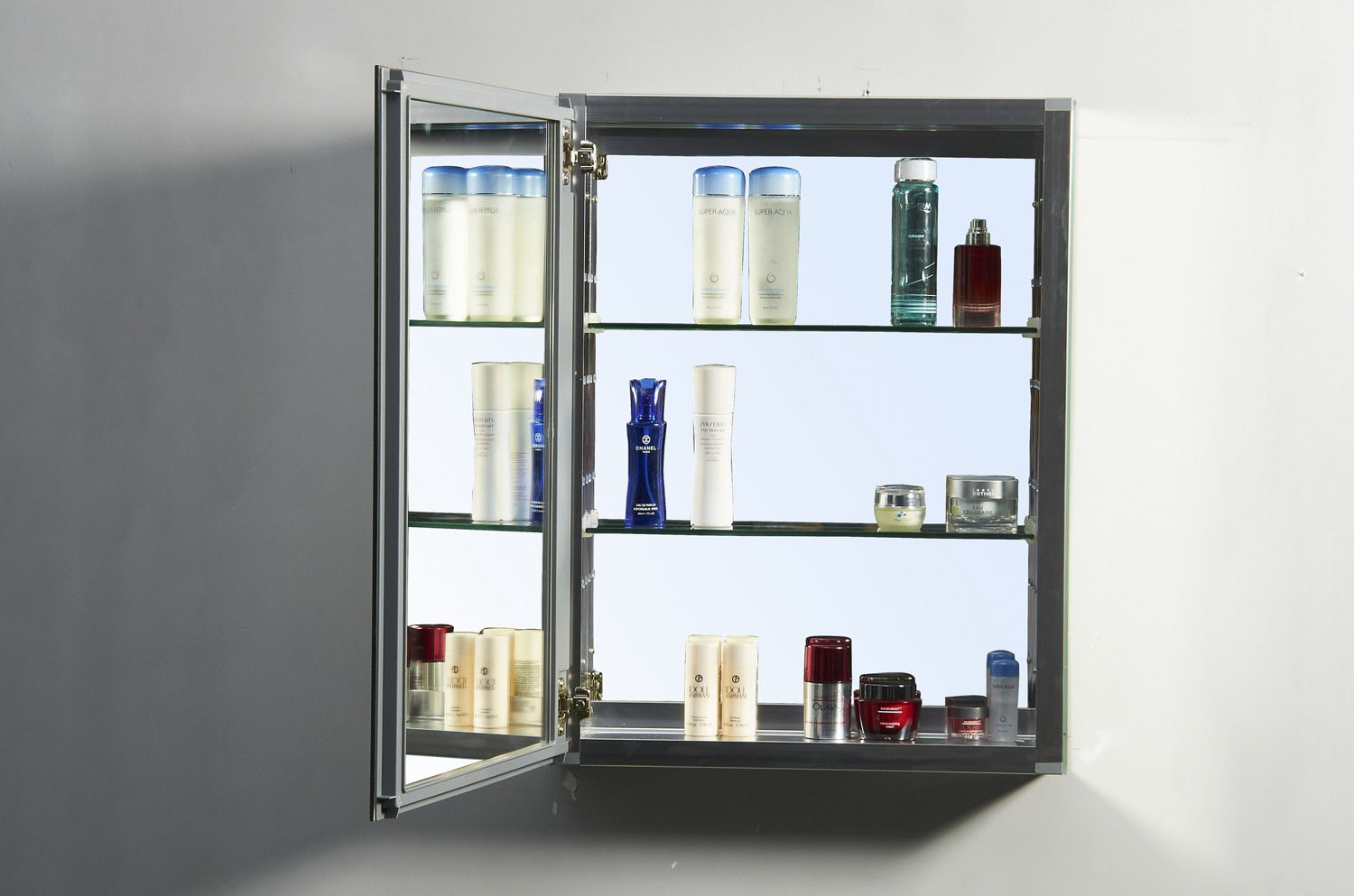 "Confiant 20"" Mirrored Medicine Cabinet Recessed Or Surface"