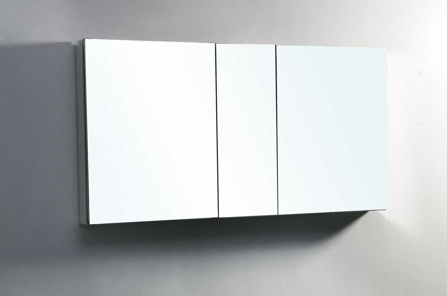 "Confiant 50"" Mirrored Medicine Cabinet Recessed Or Surface"